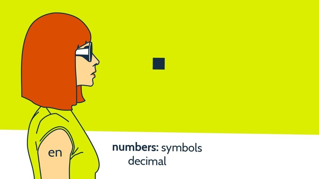 numbers: symbols decimal . en