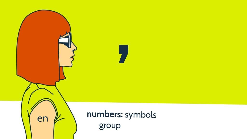 numbers: symbols group , en