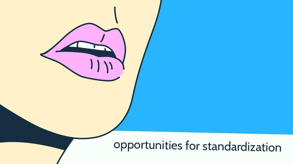 opportunities for standardization