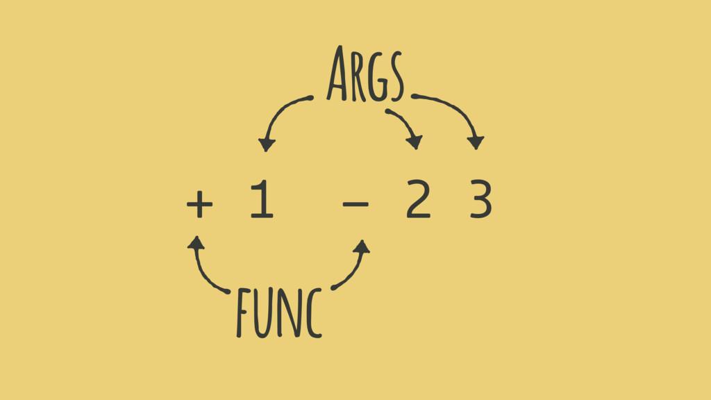 + 1 - 2 3 ( ( )) func Args