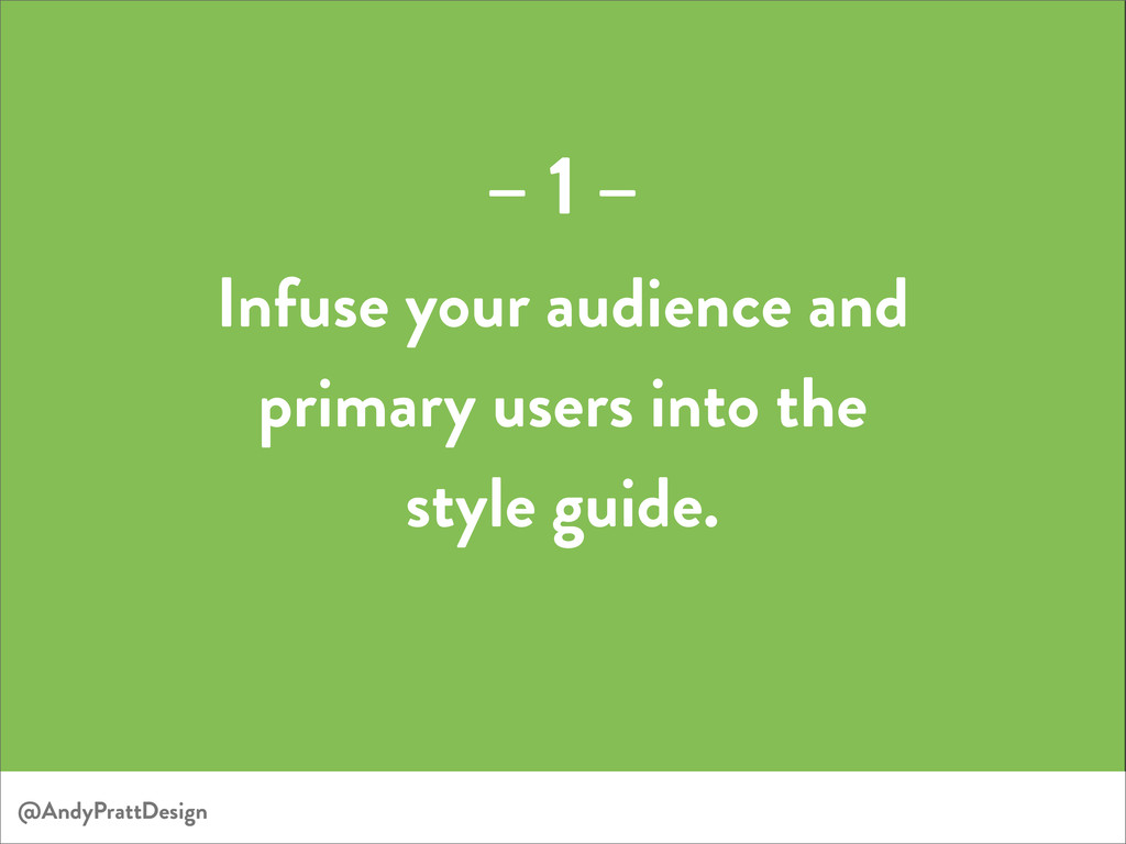 @AndyPrattDesign Infuse your audience and prima...