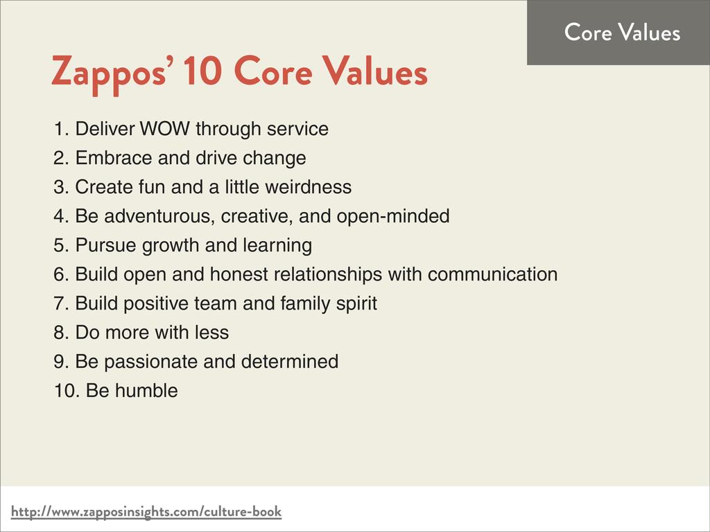http://www.zapposinsights.com/culture-book Core...