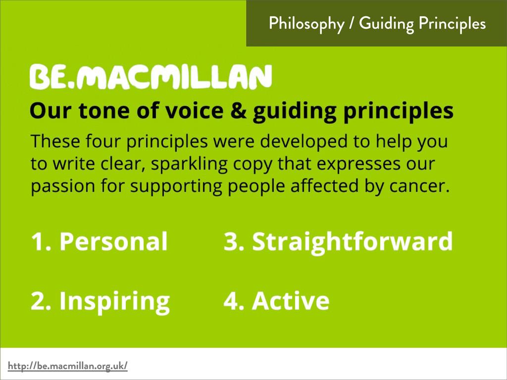Philosophy / Guiding Principles http://be.macmi...