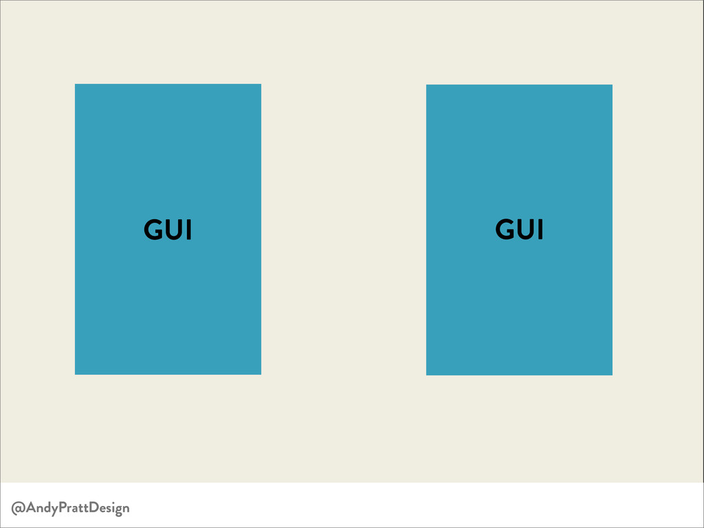 GUI GUI @AndyPrattDesign