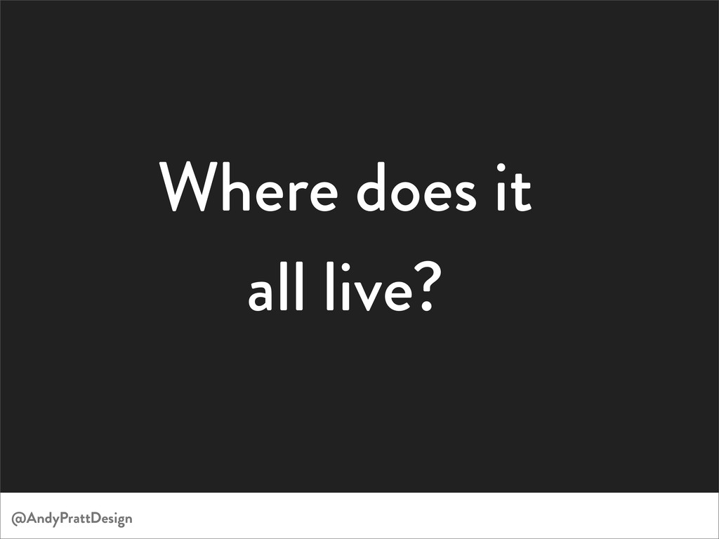 Where does it all live? @AndyPrattDesign