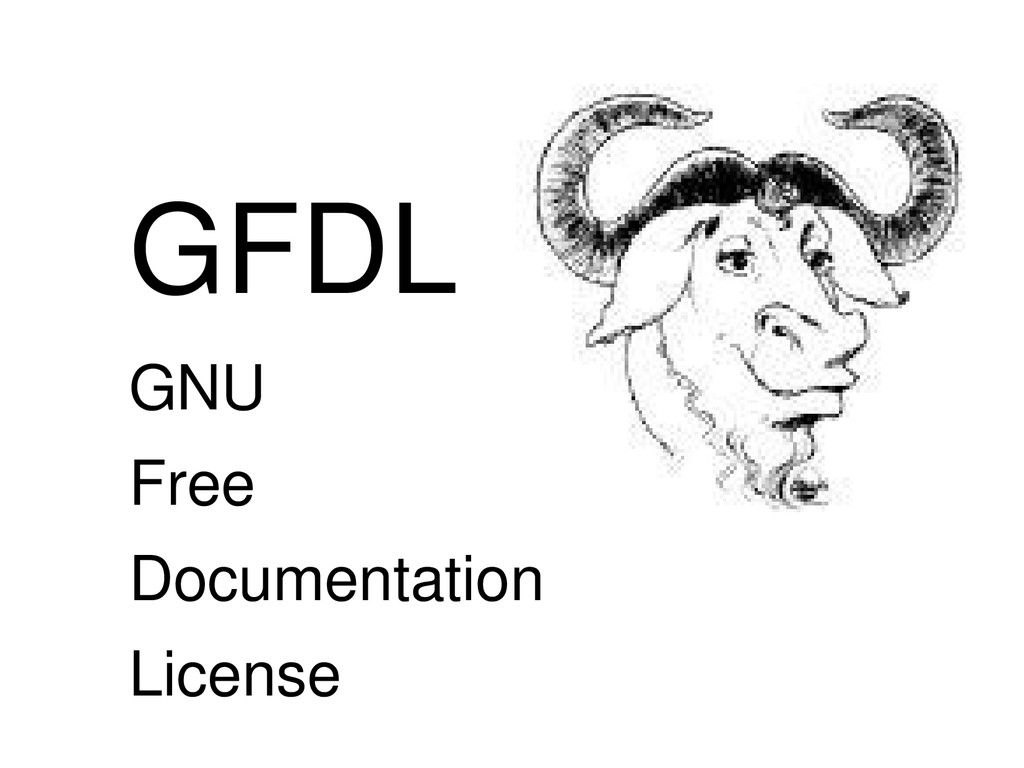 GFDL GNU Free Documentation License