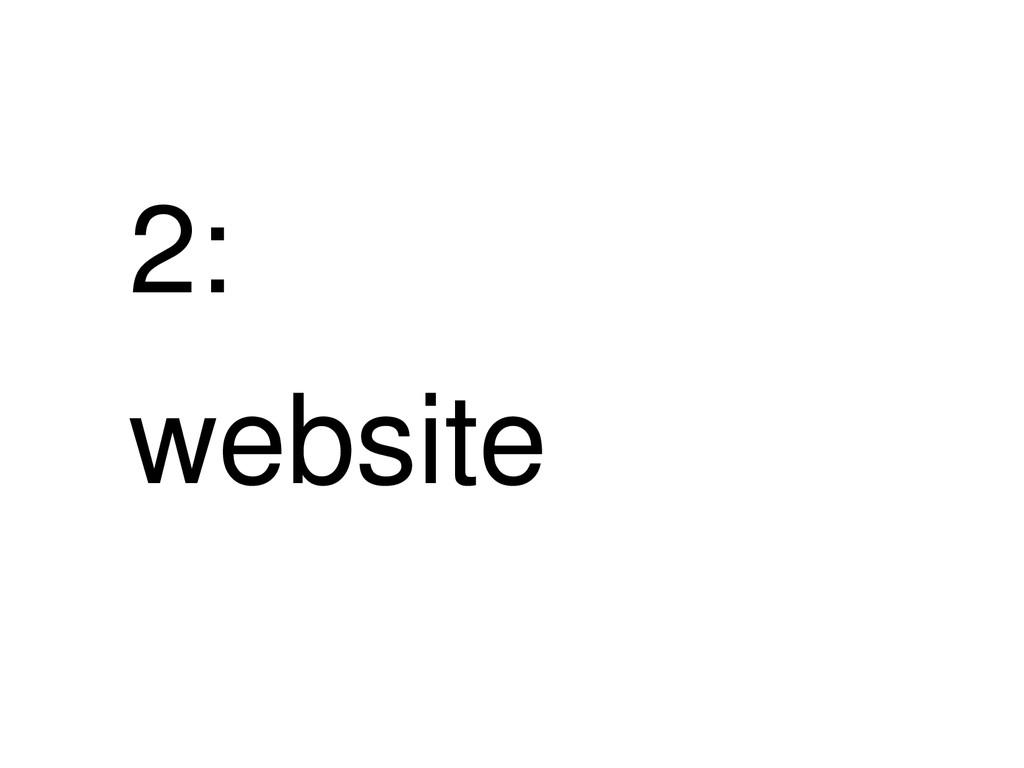 2: website