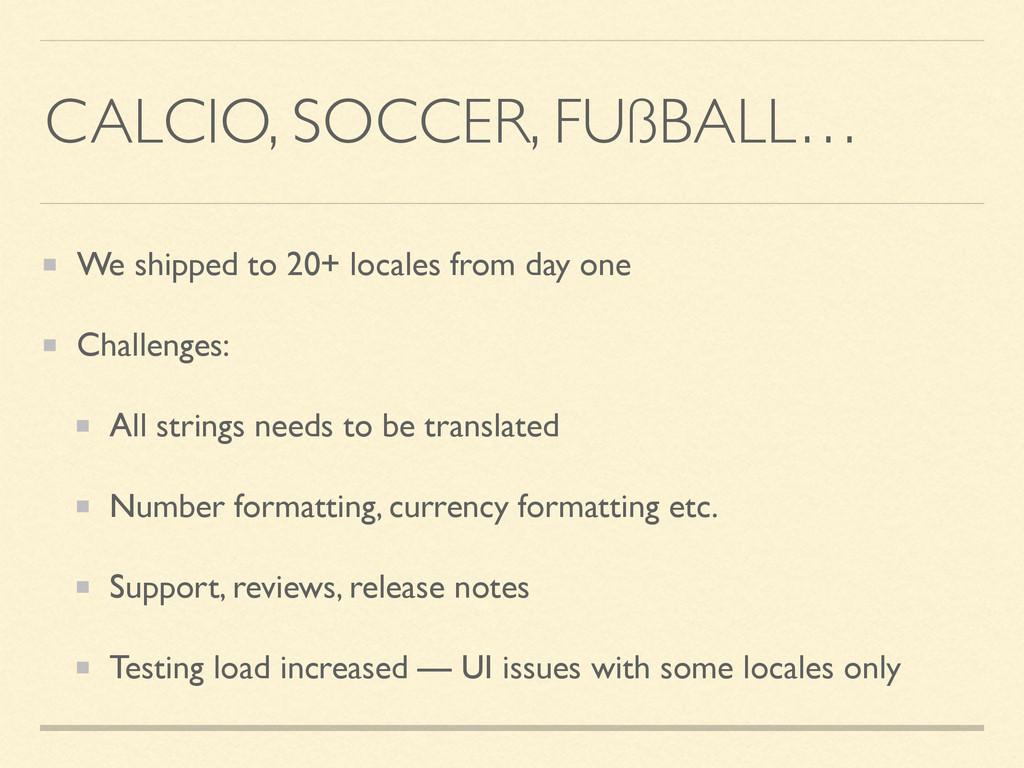 CALCIO, SOCCER, FUßBALL… We shipped to 20+ loca...
