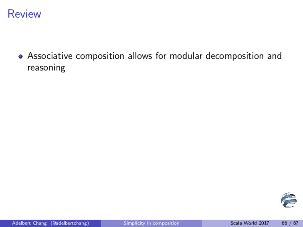 Review Associative composition allows for modul...