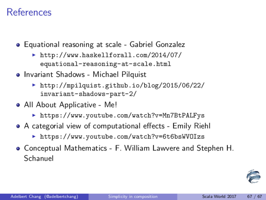 References Equational reasoning at scale - Gabr...