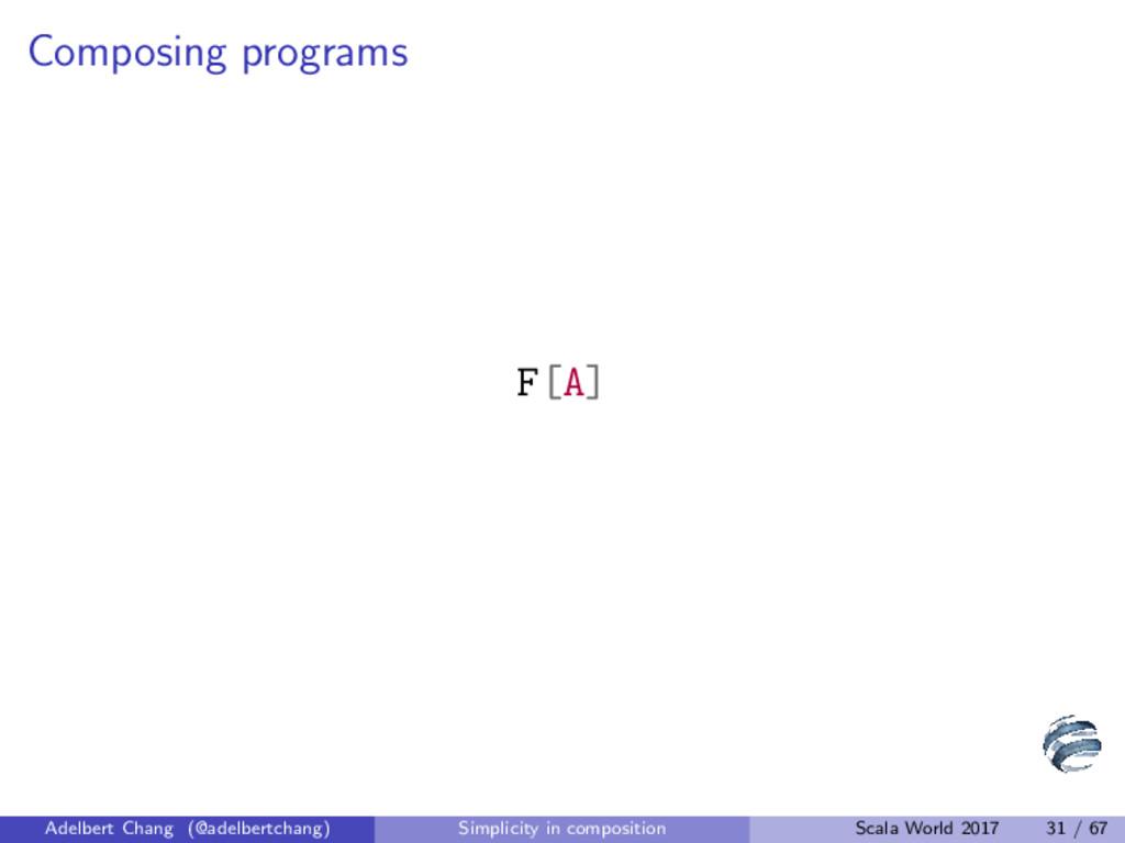 Composing programs F[A] Adelbert Chang (@adelbe...
