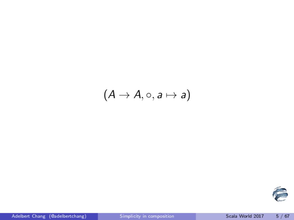 (A → A, ◦, a → a) Adelbert Chang (@adelbertchan...