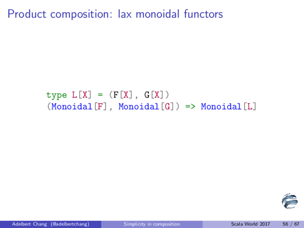 Product composition: lax monoidal functors type...