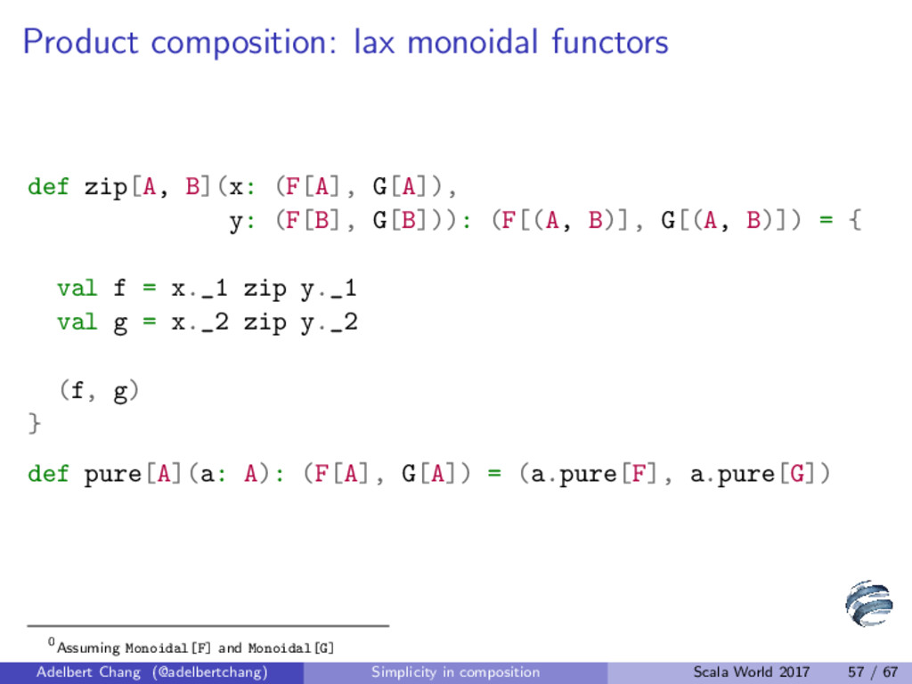 Product composition: lax monoidal functors def ...