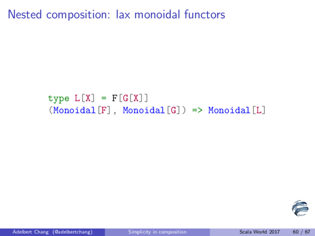 Nested composition: lax monoidal functors type ...
