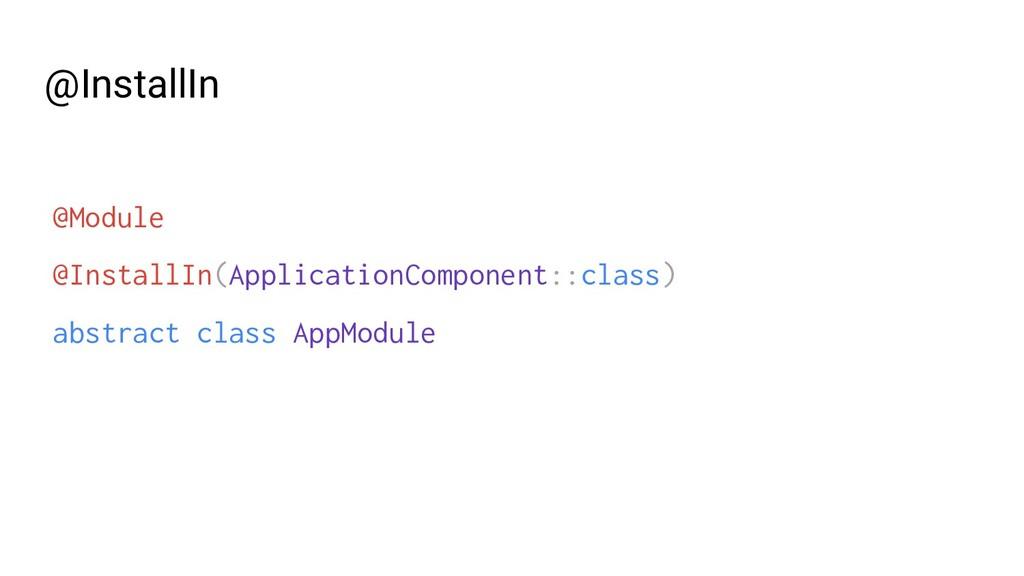 @Module @InstallIn(ApplicationComponent::class)...