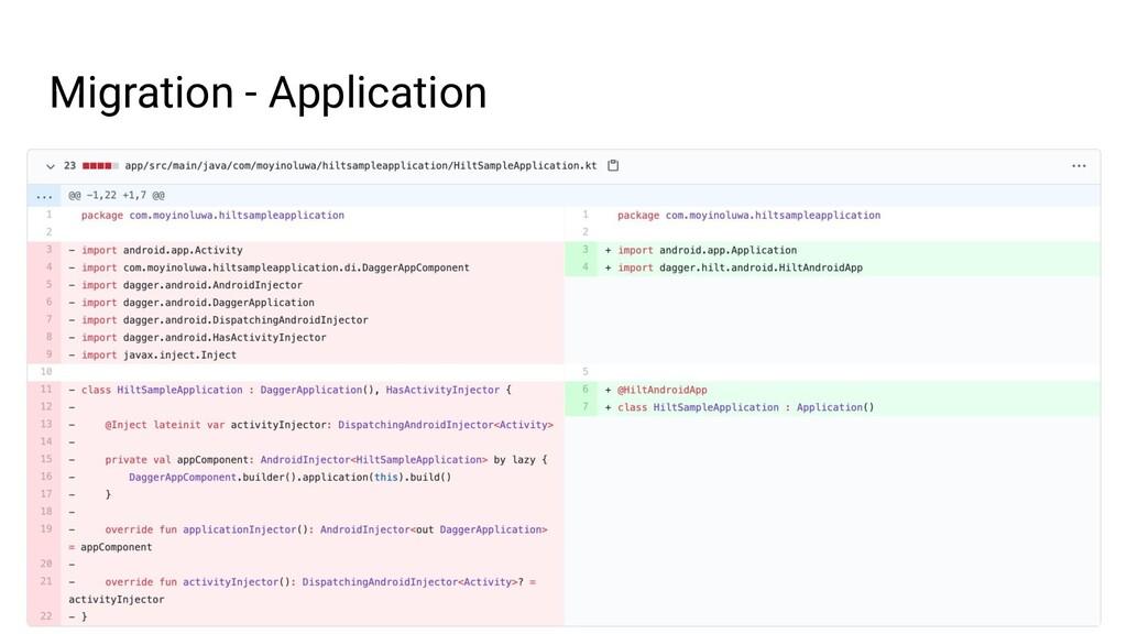 Migration - Application