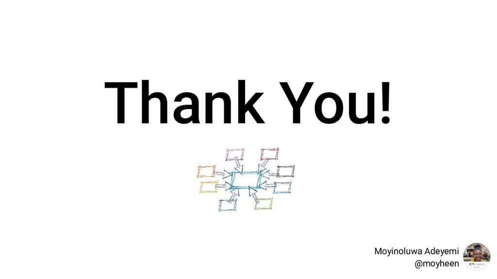 Thank You! Moyinoluwa Adeyemi @moyheen