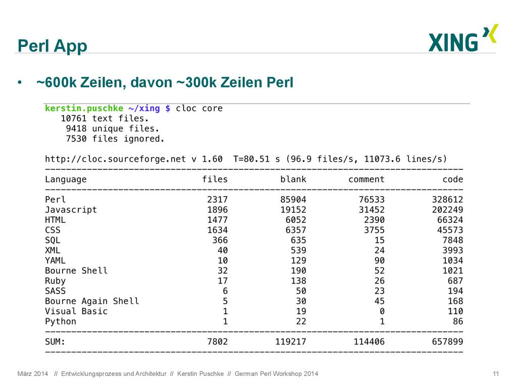 Perl App März 2014 // Entwicklungsprozess und A...