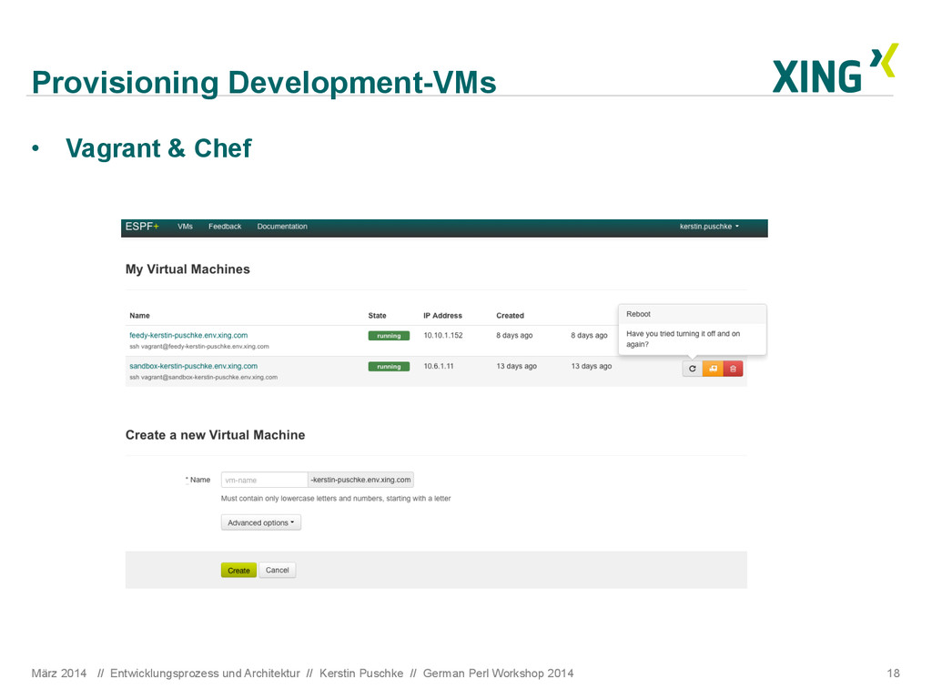 Provisioning Development-VMs März 2014 // Entwi...