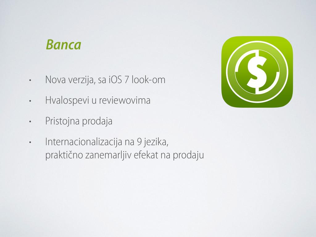 • Nova verzija, sa iOS 7 look-om • Hvalospevi u...