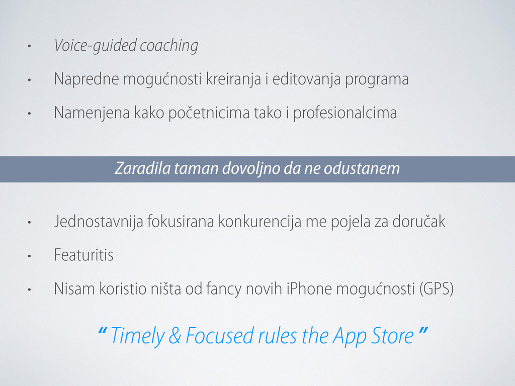 • Voice-guided coaching • Napredne mogućnosti k...