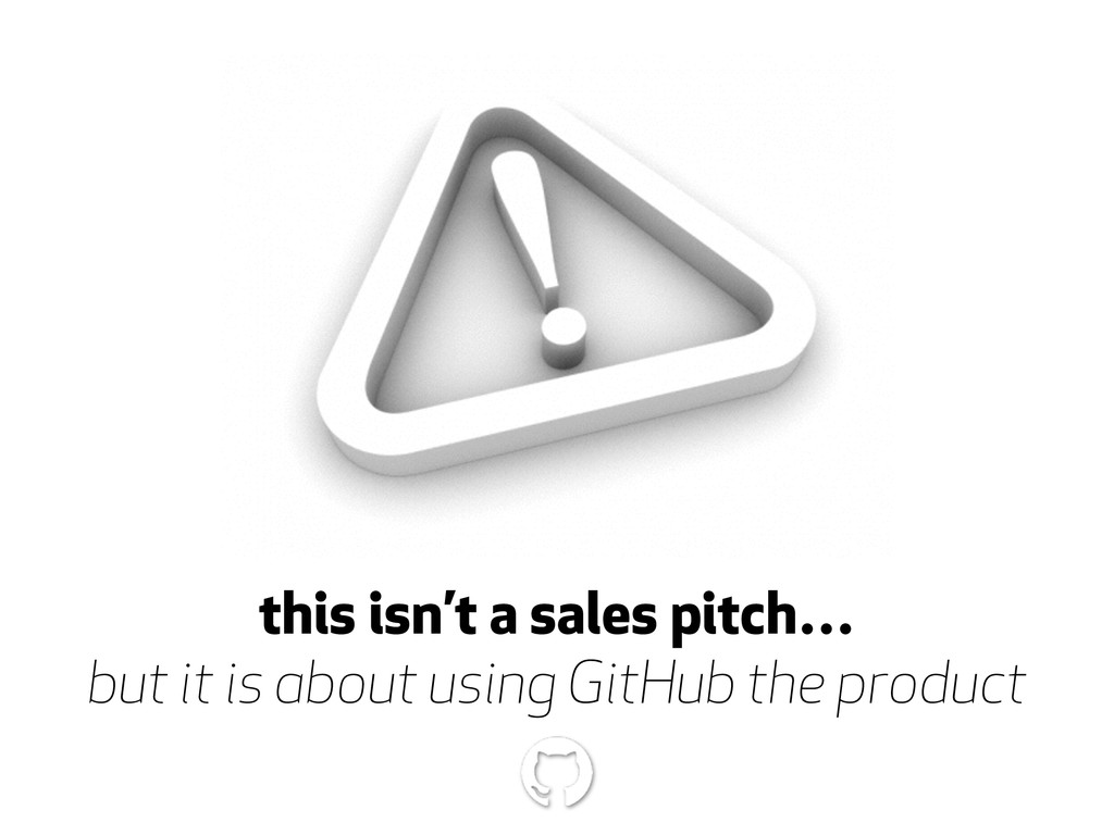 this isn't a sales pitch… but it is about using...
