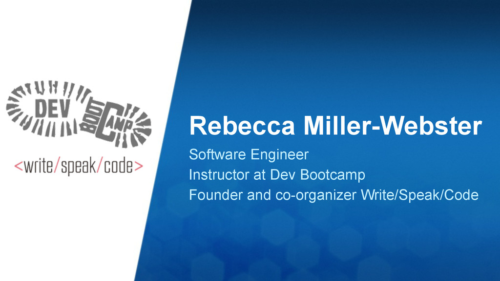 Rebecca Miller-Webster Software Engineer Instru...