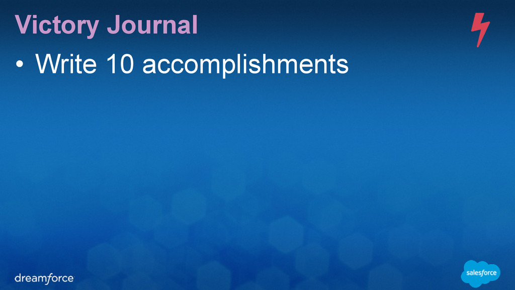 Victory Journal • Write 10 accomplishments