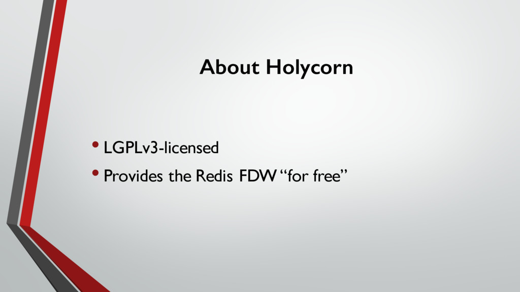 About Holycorn • LGPLv3-licensed • Provides the...
