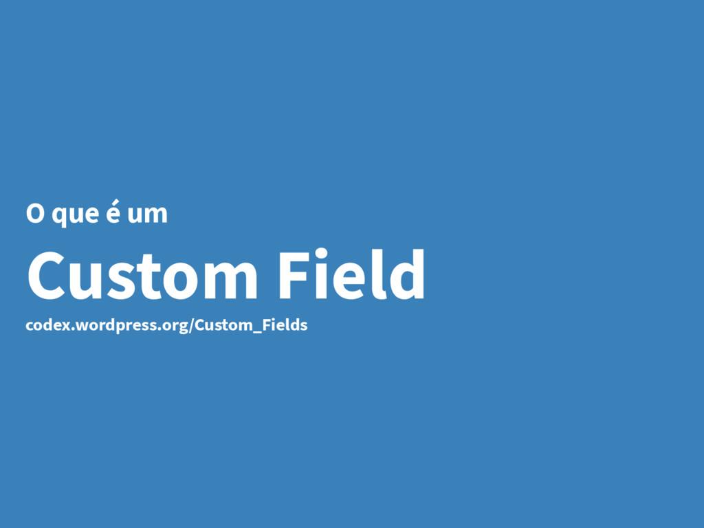 O que é um Custom Field codex.wordpress.org/Cus...