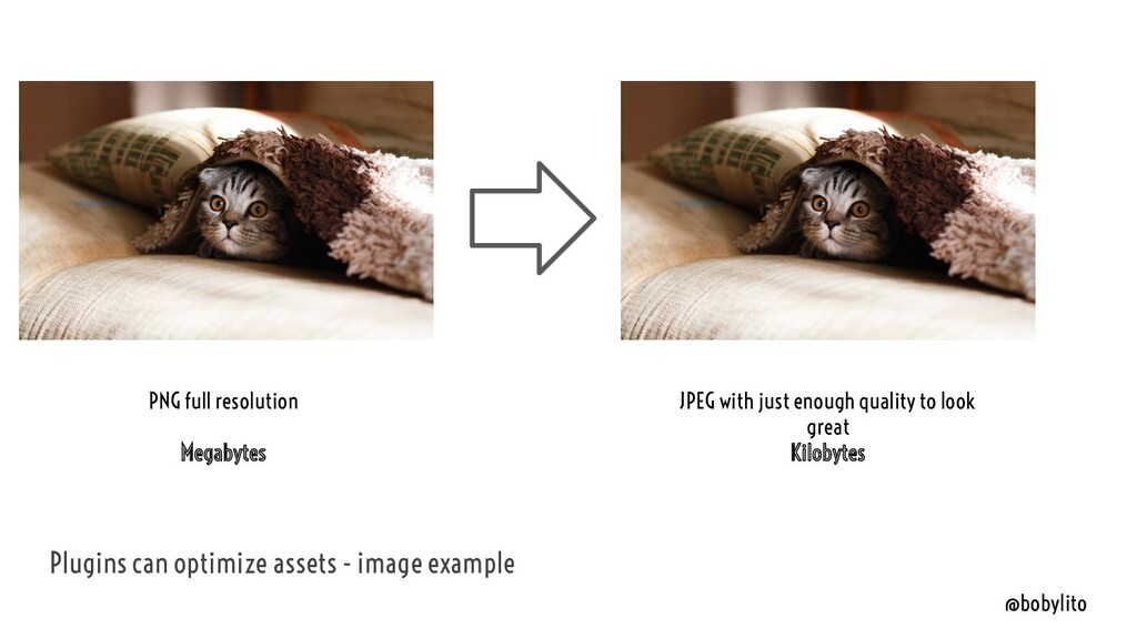 @bobylito Plugins can optimize assets - image e...