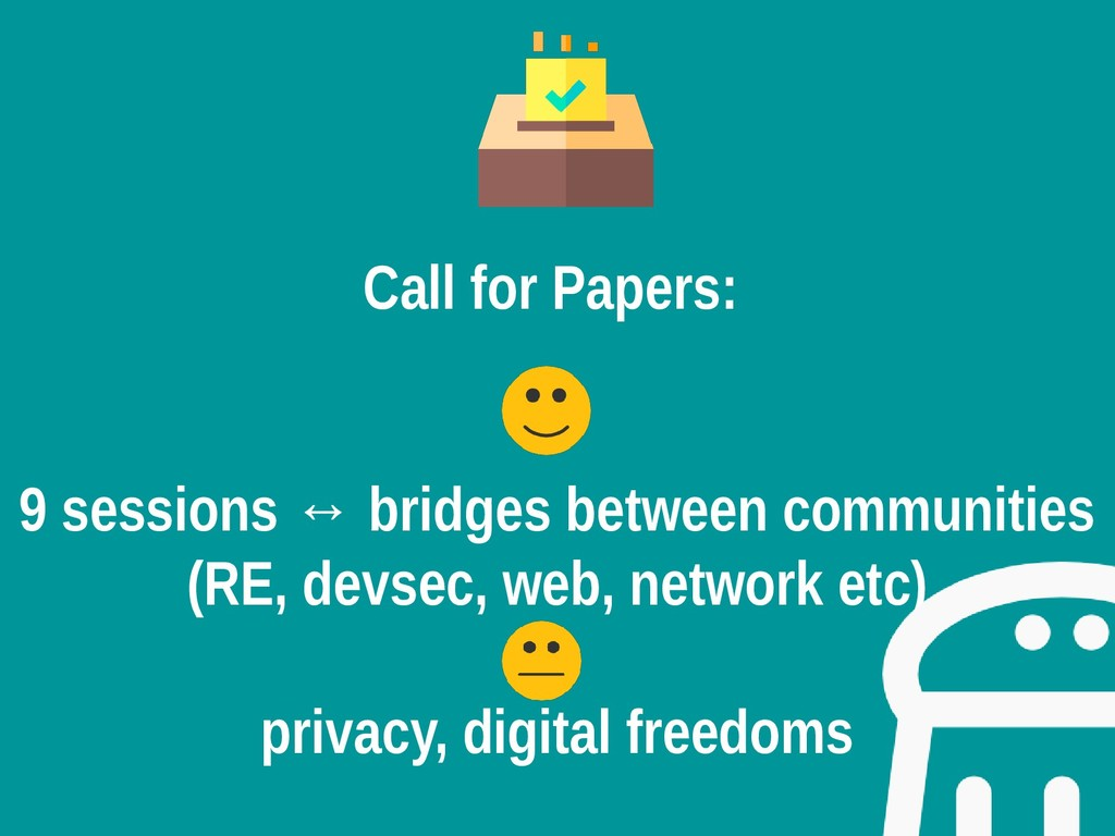 Call for Papers: 9 sessions ↔ bridges between c...