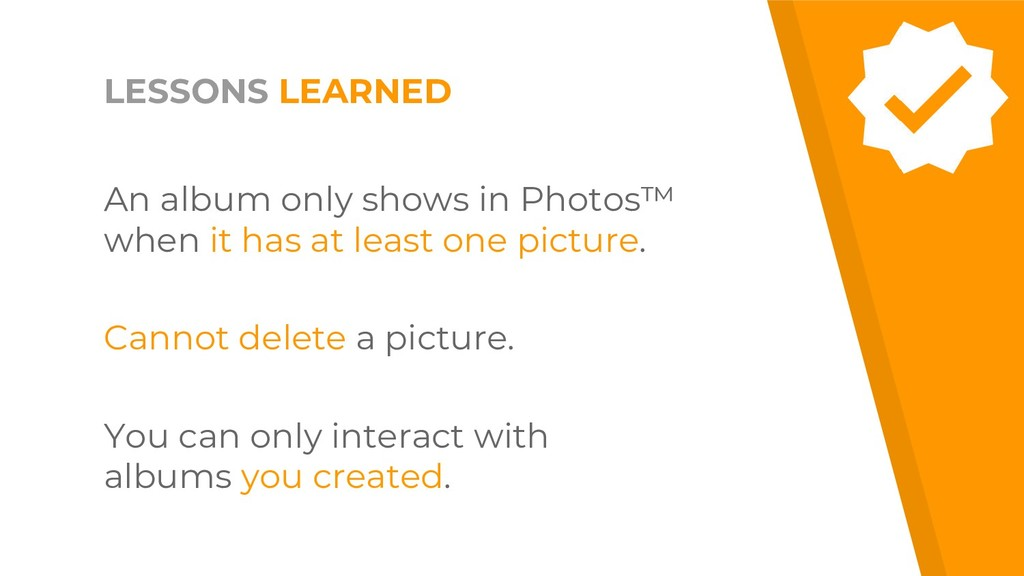 An album only shows in Photos™ when it has at l...