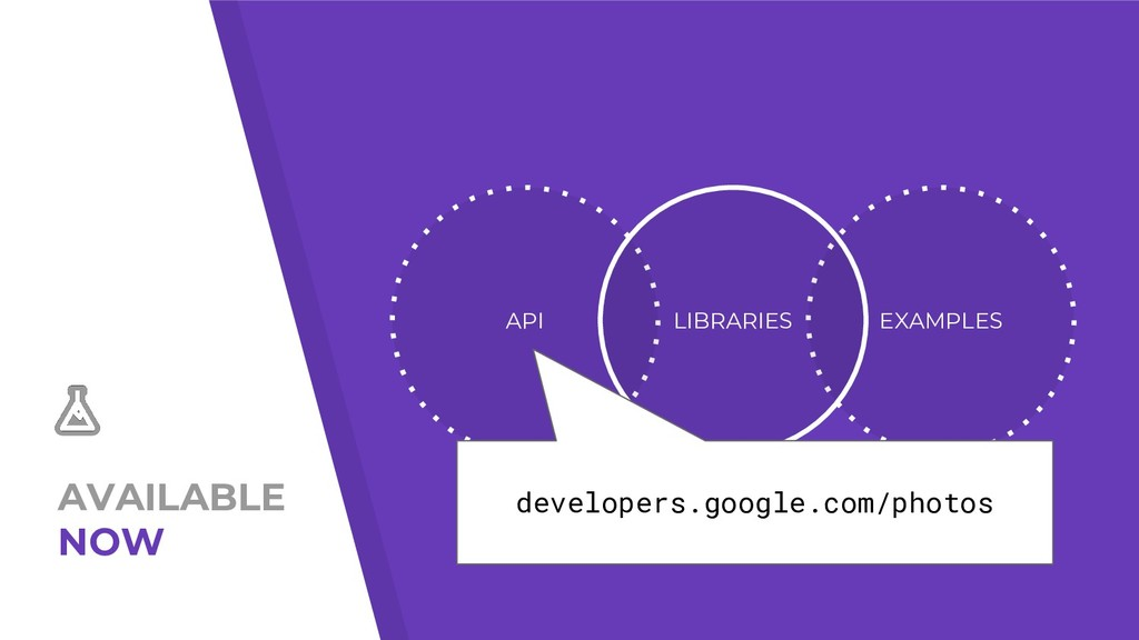 AVAILABLE NOW API EXAMPLES LIBRARIES developers...