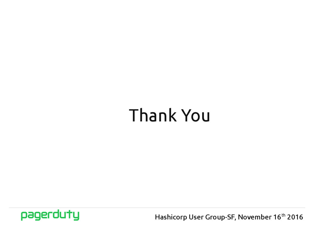 Thank You Hashicorp User Group-SF, November 16t...