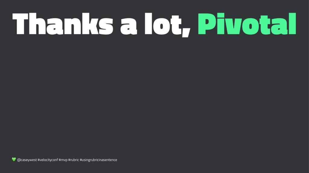 Thanks a lot, Pivotal ! @caseywest #velocitycon...