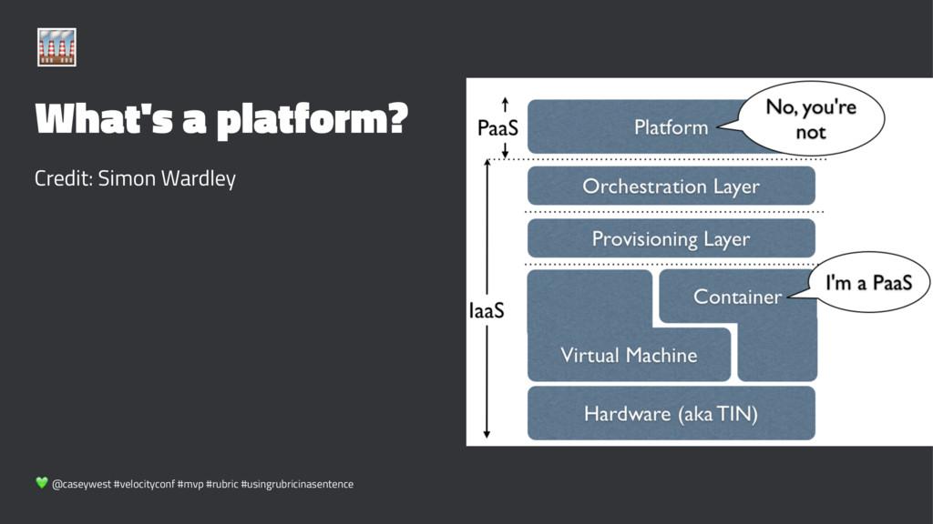 ! What's a platform? Credit: Simon Wardley ! @c...