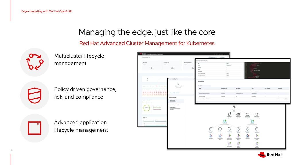 Edge computing with Red Hat OpenShift 12 Managi...