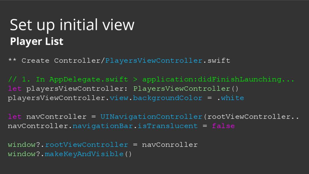 ** Create Controller/PlayersViewController.swif...