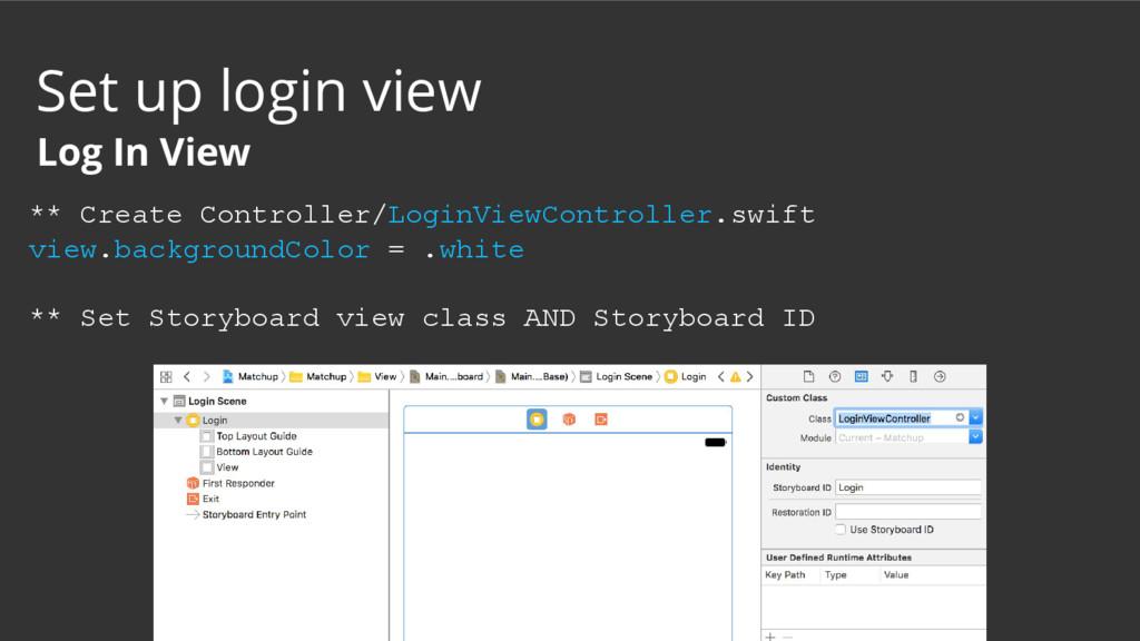 ** Create Controller/LoginViewController.swift ...