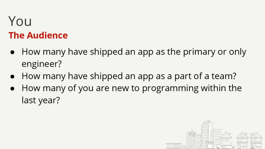 ● How many have shipped an app as the primary o...