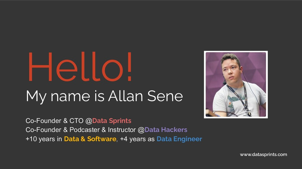 Hello! My name is Allan Sene Co-Founder & CTO @...