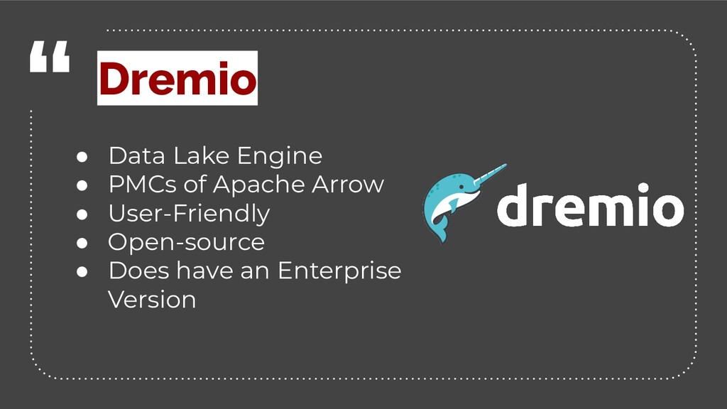 """ ● Data Lake Engine ● PMCs of Apache Arrow ● U..."