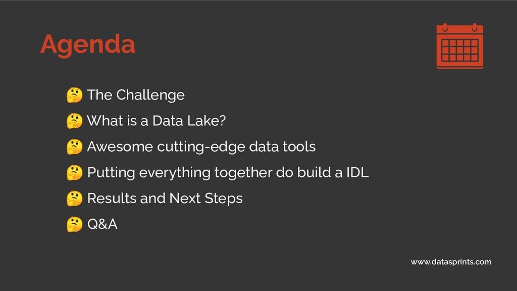 Agenda www.datasprints.com  The Challenge  What...