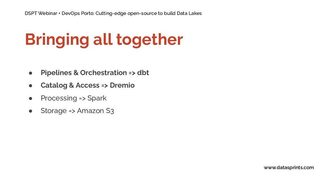DSPT Webinar + DevOps Porto: Cutting-edge open-...
