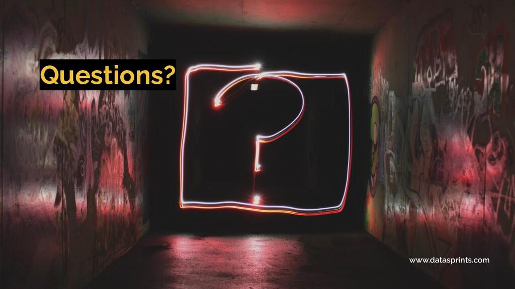 Questions? www.datasprints.com