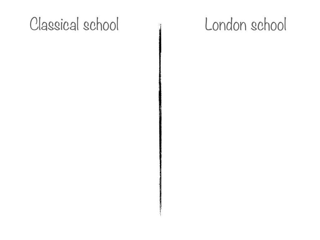 Classical school London school