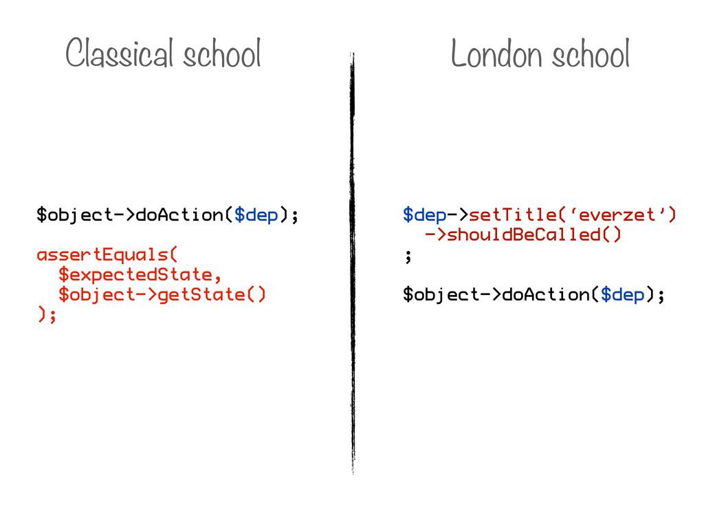 Classical school London school $object->doActio...