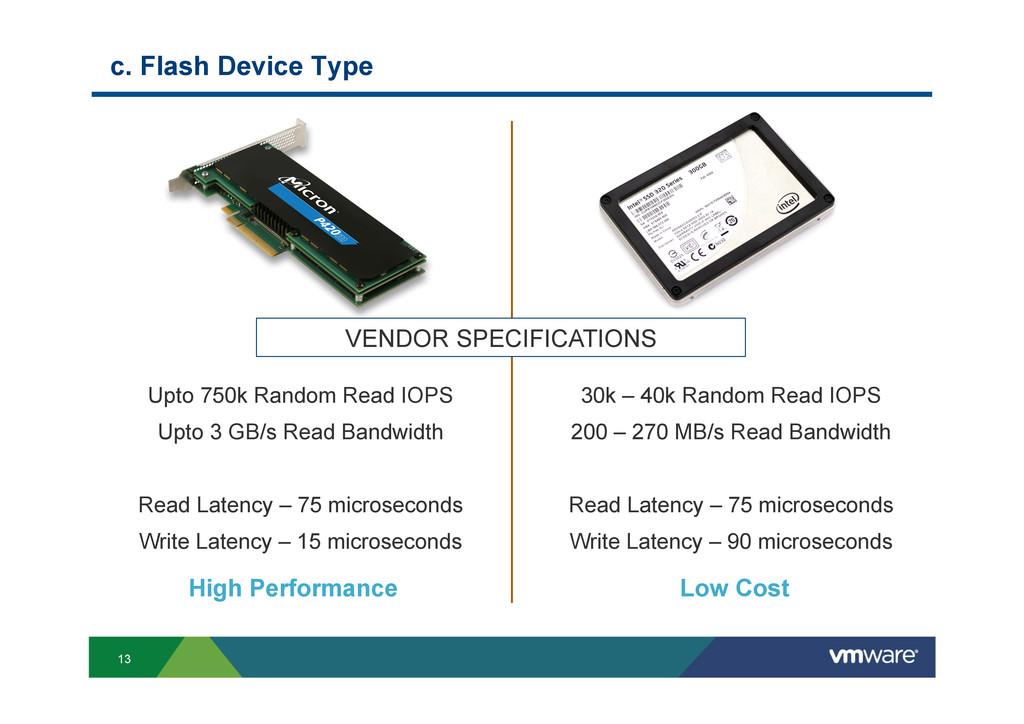 13 c. Flash Device Type 30k – 40k Random Read I...